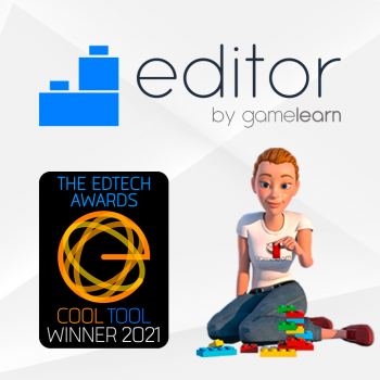 Gamelearn's Editor wins best authoring tool at the EdTech Awards 2021